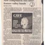 Cave Records article in Graffitit - Oct. 1995